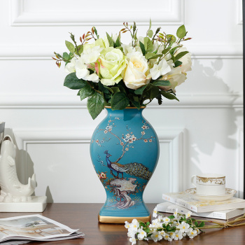 New home accessories/SI series vases/pottery Blue Bird ornaments