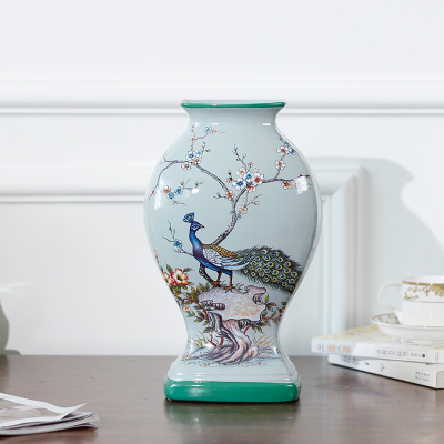 New home accessories SI series/Blue Bird vases/pottery ornaments