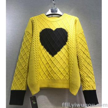 European and Korean fashion loving the new sweater long sleeve knit loose women top