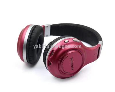 B61 Bluetooth headset Bluetooth headset pink 7 new private Wireless Binaural model movement music headphones