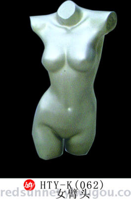 Bust model white colour plastic transparent body model