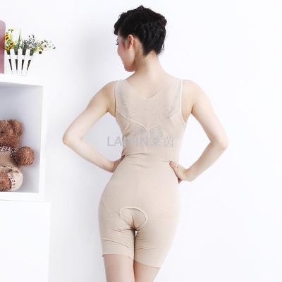 Rhine seamless jacquard thin soft breathable and comfortable flat foot conjoined corset body clothing increase edition