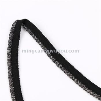 Metallic cluster edge with the rope garment accessories
