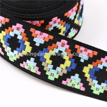 Color national Ribbon lace Jacquard elastic-free accessories