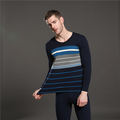 Heng Jacquard fall clothing, men's thermal underwear long Johns top cotton sweater factory outlet