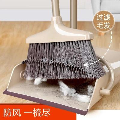 Combining factory outlet stainless steel double broom bucket plastic broom and dustpan set