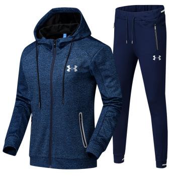 Sportswear autumn of 2017 men's sportswear sportswear men's running clothing fitness Kit