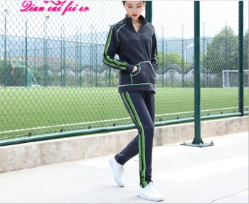 Casual sportswear for fall/winter fashion show thin add flocking thick sweater women's plus size two-piece boom