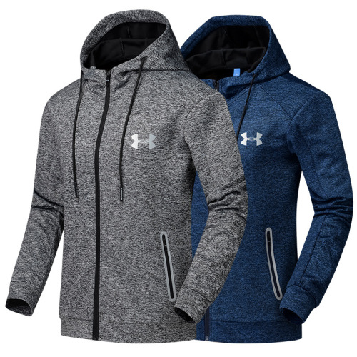 Fall 2017 long sleeves sportswear men's running clothing fitness zipper Cardigan UA