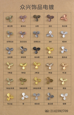DIY metal jewelry accessories wholesale tiara hair accessories hairpin materials wholesale copper fittings leaves squid