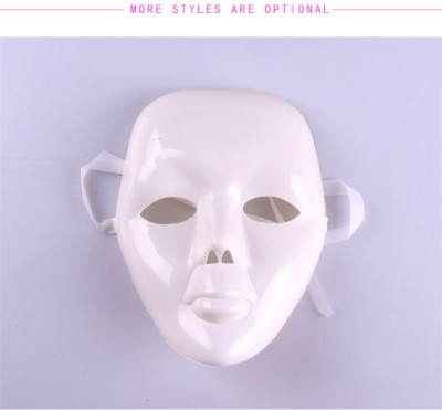 White mask Festival Party Christmas Halloween props Male Models Female Model dance mask
