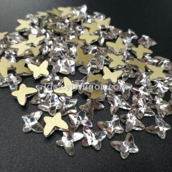 Abnormity glass flat diamond jewelry accessories wholesale factory direct