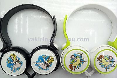 Factory direct sale new stylish headband headphones cartoon 12 constellation headset world flag gifts headphones