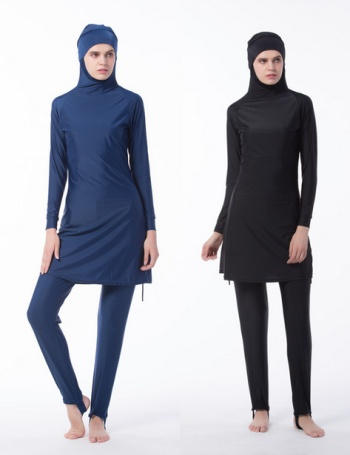 The new style is a full-color Muslim swimsuit with a women's swimsuit