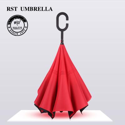 F705 creative c handle solid color car reverse umbrella umbrella wholesale