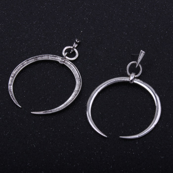 Europe and the simple open circle earrings ring ear rings female character alloy exaggerated Stud Earrings wholesale