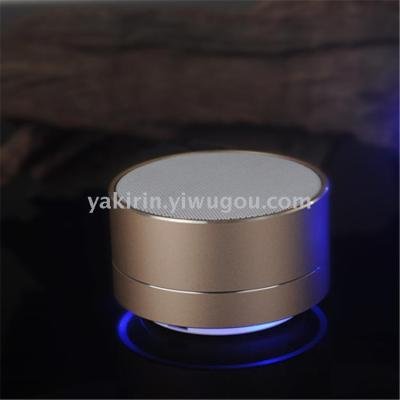 Wireless Bluetooth speaker cannon in A10 inserted metal 2.0 mobile audio creative gift card custom printed LOGO