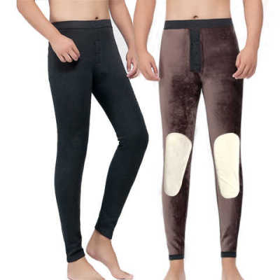 600 grams of added fat RAM knee-waist warm pants one super soft thickened plus fleece pants