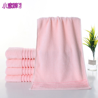 Korean version of the new Bee plain cotton sateen towel towel