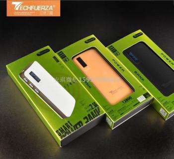 New leather grain charging powerbank gift mobile power supply custom logo