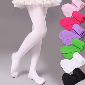 Spring and fall/winter white Ballet socks connected with velvet padded baby stockings children tights girls leggings