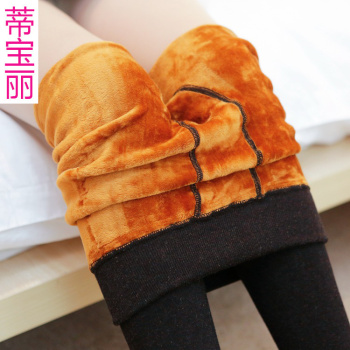The winter with cashmere cashmere waist gold foot wear pants body warm pants cotton pants