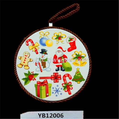 Christmas ceramic pad dual-use home daily decoration crafts