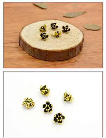 DIY wholesale handmade jewelry hairpins materials 8.5*8.5MM fine brass flower pendant accessories wholesale