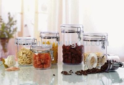 Plastic canister canister seasoning bottle storage tank storage tanks is easy to pull the cans sugar bowl