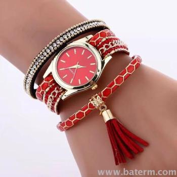 Aliexpress explosions fashion simple decorative tassel pendant chain ladies bracelet watches