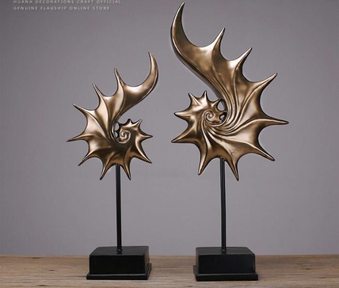 北欧复古树脂海螺摆件 创意家居饰品客厅软装电视柜摆设工艺礼品图片