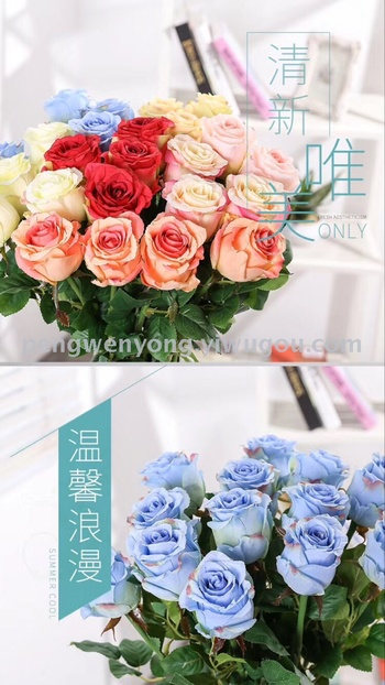Single beauty roses artificial flowers flower roses