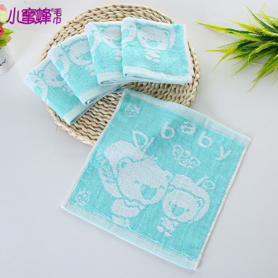 Bee cartoon baby towel bamboo fiber towel