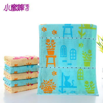 New Bee cartoon face towel 100% towel cotton strands supermarket gift custom soft