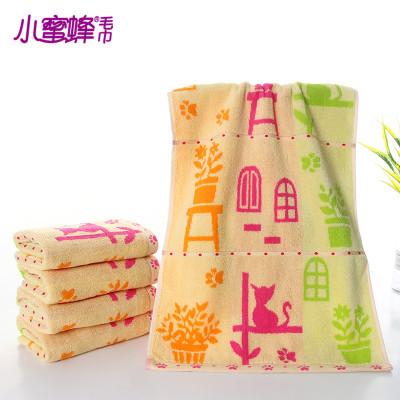 New Bee cartoon face towel 100% towel cotton strands supermarket gift custom soft