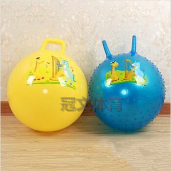 55 cm children bouncing ball jump ball thickening the handle ball inflatable toys children's toys