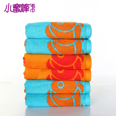 Burt's bees new cotton towel cartoon bright colors made of fine cotton yarn