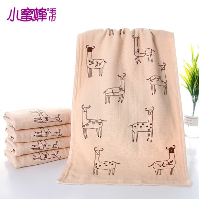 Bee factory outlet fabric printing large deer towel pattern clear couple style