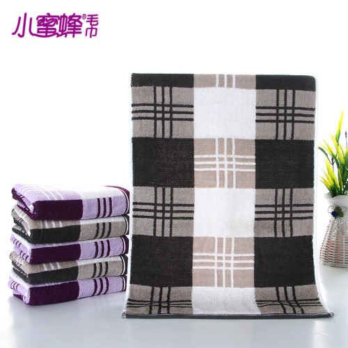 Burt's bees towel cotton padded Plaid cotton towel couple high-selling gift towels daily