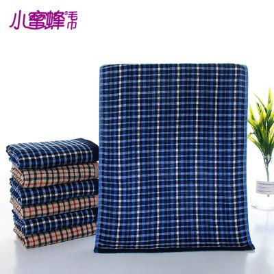 Bee cloth towel towel printing negative 32 lines, dark Plaid