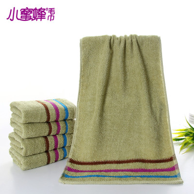 Burt's bees plain satin towel towel, green staining