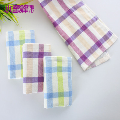 Burt's bees new cotton gauze absorbent towels soft striped box 32 yarn untwisted yarn face towel
