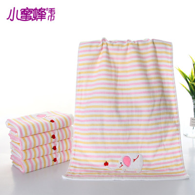 Bee elephant embroidered towel towel fabric printing cute fashion favored by the masses