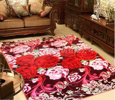 Carpet thickened 3D plush carpet