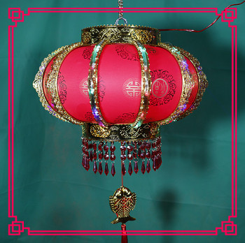 Outdoor waterproof red lanterns hanging balconies on the move blessed words the new year decorated lanterns