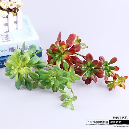 Dark-haired teacher hanging vines 2 artificial flowers, fleshy plant simulation flower artificial flower