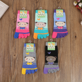 2017 new fashion children cute toes toe socks cartoon socks