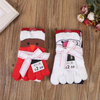 2017 new fashion children toe toe socks Christmas stockings socks