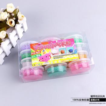 12色5D水晶透明粘土泥果凍泥橡皮彩泥可兒童玩具