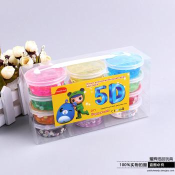 12色5D水晶泥透明拉面粘土果凍泥鼻涕泥水晶粘土
